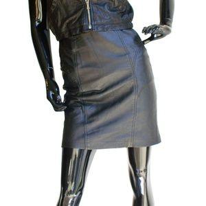 Rafaella Black Leather Skirt US Size 7/8